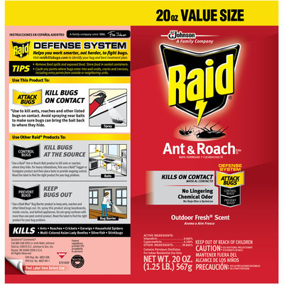 Raid® Ant & Roach Killer 17 Outdoor Fresh Scent Insecticide Aerosol Can