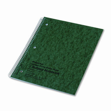 National Brand Subject Wirebound Notebook, College/Margin Rule, Ltr, WE, 80 Sheets/Pad