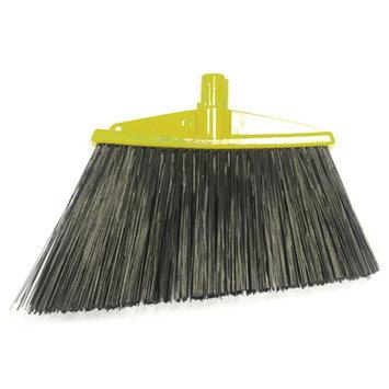 Syr Angle Broom with Bristles Color: Yellow