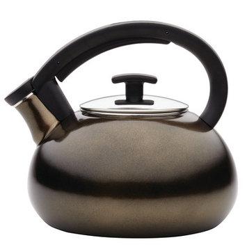 Anolon Allume 2-Quart Enamel on Steel Teakettle, Umber