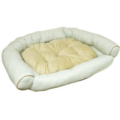 Home Dynamix Comfy Pooch Deluxe Couch with Plush Polyester Top Color: Cream