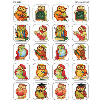 Teacher Created Resources TCR4346 Sw Owl Stickers