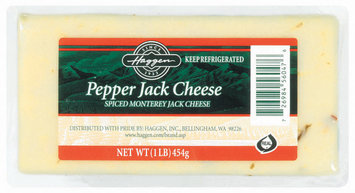 Haggen Pepper Jack Spiced Monterey Cheese 1 Lb