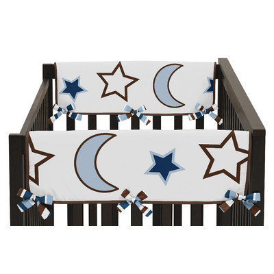 Sweet Jojo Designs Starry Night Side Crib Rail Guard Cover