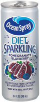 Ocean Spray Diet Sparkling Pomegranate Blueberry Fruit Juice Drink