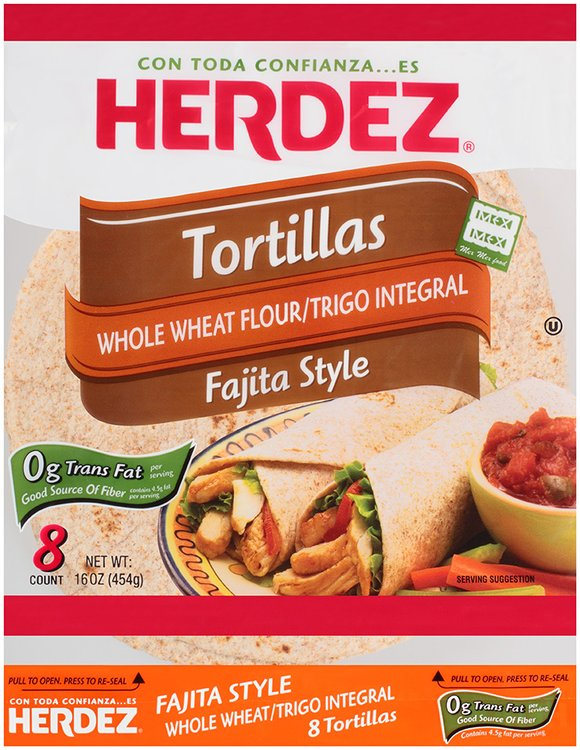 Herdez® Whole Wheat Flour Fajita Style Tortillas 16 oz. Bag