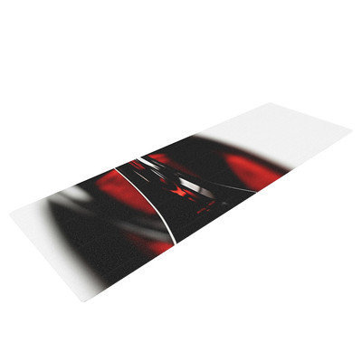 Kess Inhouse Red for Two by Ingrid Beddoes Yoga Mat