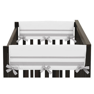 Sweet Jojo Designs Hotel Side Crib Rail Guard Cover Color: Gray and White
