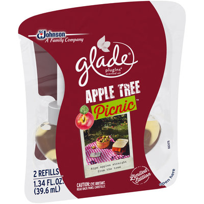 Glade® PlugIns® Apple Tree Picnic™ Scented Oil Air Freshener Refills 2 ct Pack