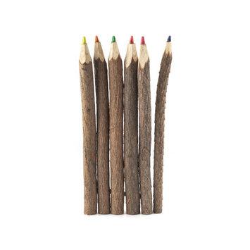 Kikkerland 6 Piece Twig Colored Pencil Set (Set of 12)