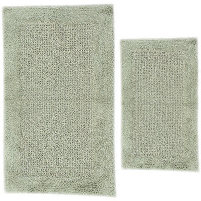 Textile Decor Castle 2 Piece 100% Cotton Naples Spray Latex Bath Rug Set, 30 H X 20 W and 40 H X 24 W