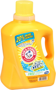 Arm & Hammer™ Plus Oxi Clean™ Stain Fighters Free of Perfumes & Dyes Laundry Detergent 122.5 fl. oz. Jug