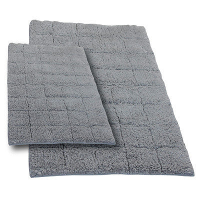 Textile Decor Castle 2 Piece 100% Cotton Summer Tile Spray Latex Bath Rug Set, 34 H X 21 W and 40 H X 24 W