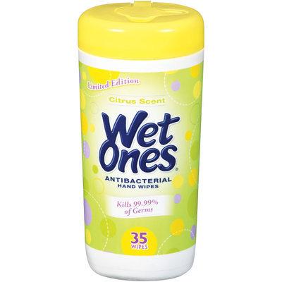 Wet Ones® Citrus Scent Antibacterial Hand Wipes 35 ct