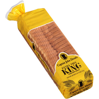 Captain John Derst's Extra Thin King Enriched Bread 20 oz. Bag