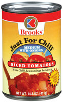 Brooks Just For Chili Medium Diced W/Onions Tomatoes 14.5 Oz Can