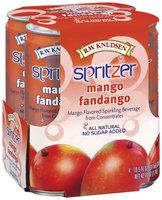 R.W. Knudsen Spritzer Mango Fandango Mango Flavored 10.5 Oz Sparkling Beverage 4 Pk Cans