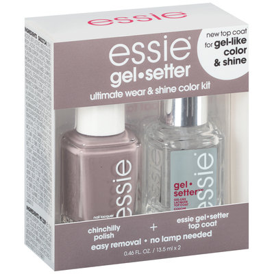 essie® gel.setter Duo Kits Chinchilly 2-0.46 fl. oz. Bottles