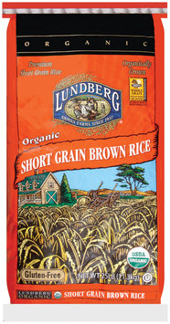 Lundberg Family Farms Organic Short Grain Brown Rice 25 Lb Bag