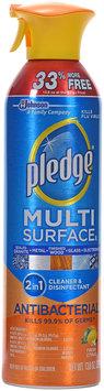 Pledge® Fresh Citrus Multi Surface Antibacterial Everyday Cleaner & Disinfectant 13.8 oz. Aerosol Can