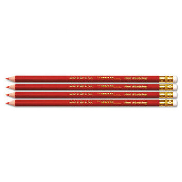 The Board Dudes Pencils USA Gold Checking, Red, Pre-Sharpened
