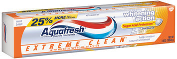 Aquafresh® Triple Protection® Extreme Clean® Whitening Action Mint Blast Toothpaste 7 oz. Box