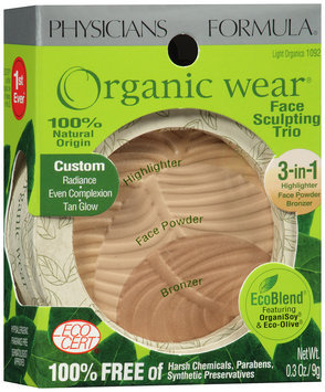 Physicians Formula® Organic Wear® Light Organics 3-in1 Highlighter/FacePowder/Bronzer 0.3 oz box