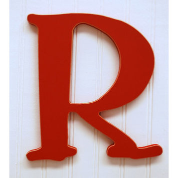 New Arrivals New Capital Letter - R - Color: Rusty Red