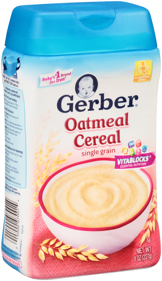 Gerber® Oatmeal Cereal 8 oz. Canister