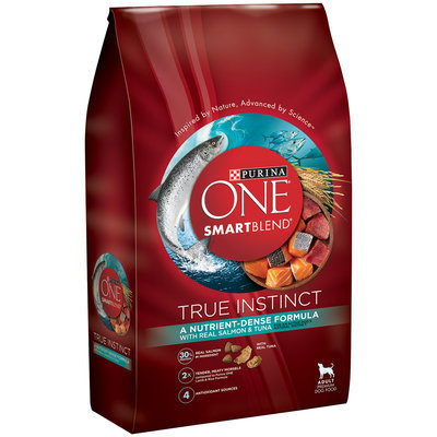 Purina ONE SmartBlend True Instinct with Real Salmon & Tuna Adult Premium Dog Food 7.4 lb. Bag