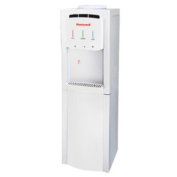 Honeywell Freestanding Water Cooler Dispenser with Thermostat Control Color: White