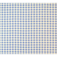 Stwd Gingham Check Fitted Bassinet Sheet Color: Blue