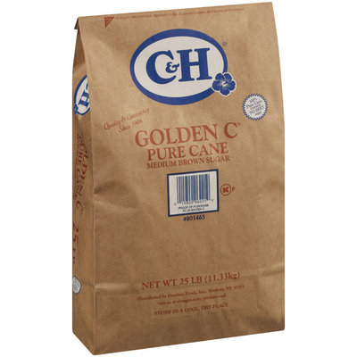 C&H Golden C Pure Can Medium Brown Sugar 25 lb Bag