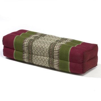 My Zen Home Yoga Bolster Color: Army / Red