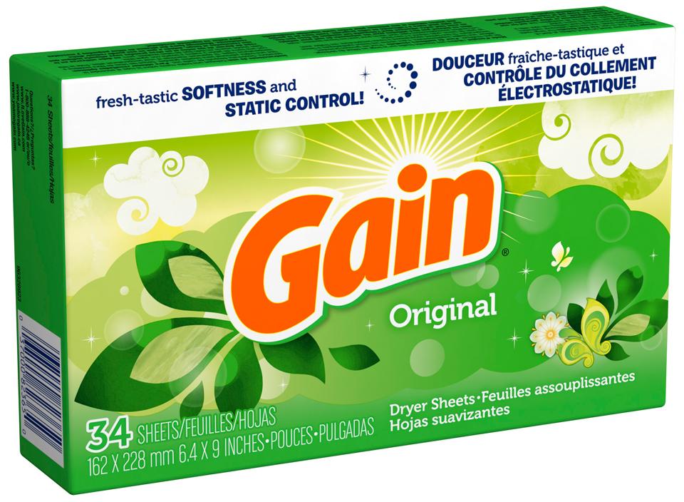 Gain® Original Fabric Softener Sheets 34 ct Box