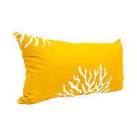 Majestic Home Goods 1 Yellow Coral Uv Protected Outdoor Accent Pillow