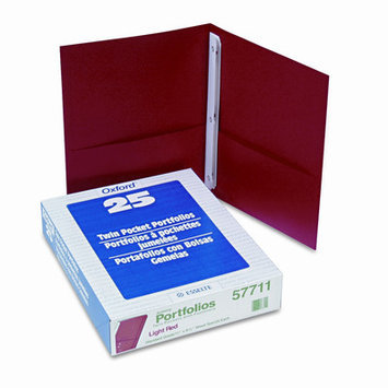 Esselte Pendaflex Corporation ESS57711 Twin Pocket Portfolio- w-Fstnrs- 11in. x8.50in- Red