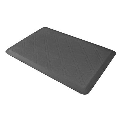 Wellness Mat Llc Wellness Mats Motif Moire MM32WM Moire Anti Fatigue Mat Grey