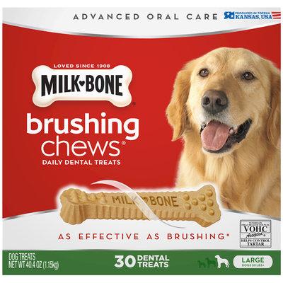 Milk-Bone® Brushing Chews Daily Dental Treats - Large, 5.5-Ounce - 30 Bones