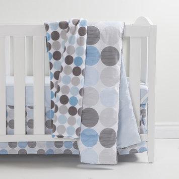 South Shore Gray and Blue 3 Piece Crib Bedding Set