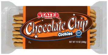 Stater Bros. Chocolate Chip Cookies 12 Oz Plastic Container