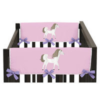 Sweet Jojo Designs Pretty Pony Side Crib Rail Guard Cover