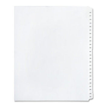 Kleer-Fax 90000 Series Numeric Side-Tab Index Divider