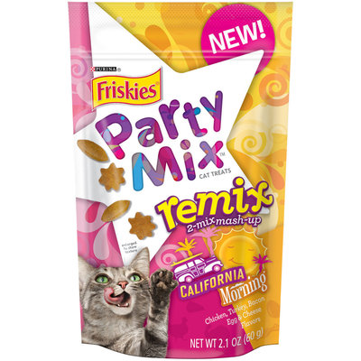Purina Friskies Party Mix Remix California Morning Cat Treats 2.1 oz. Pouch