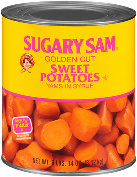 Sugary Sam® Golden Cut Sweet Potatoes 110 oz. Can