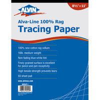 Alvin & Company Alvin 6855/P-5 12 x 18 Cotton Rag Tracing Paper Pad