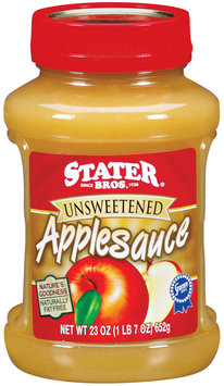 Stater Bros. Unsweetened Applesauce 23 Oz Jar