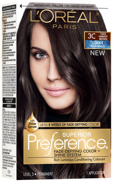 L'Oréal® Paris Superior Preference® Cools Anti-Brass 3C Cool Darkest Brown Hair Color 1 Kit Box