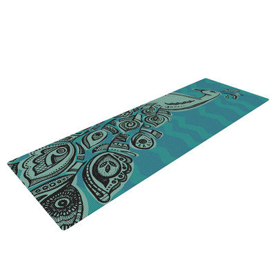 Kess Inhouse Peacock Blue II by Brienne Jepkema Yoga Mat