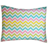 Stwd Pastel Chevron Cotton Flannel Crib/Toddler Pillow Case